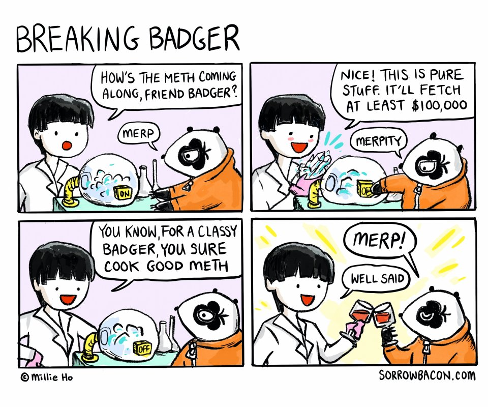 Breaking Badger sorrowbacon comic