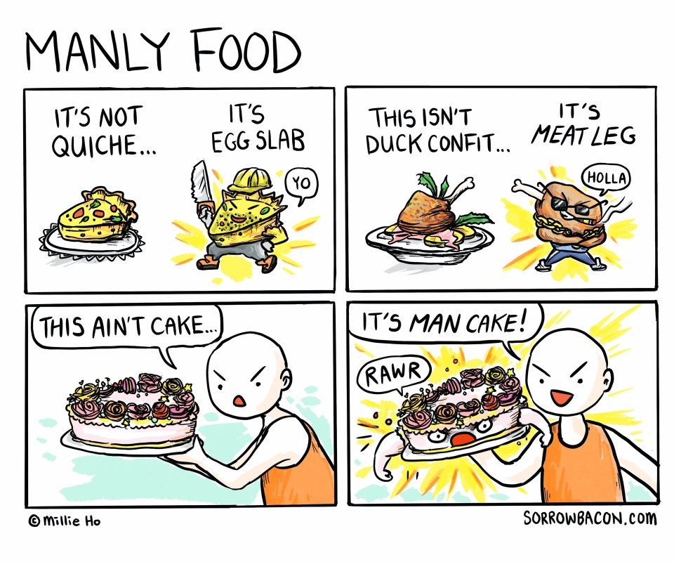 Manly Food sorrowbacon comic