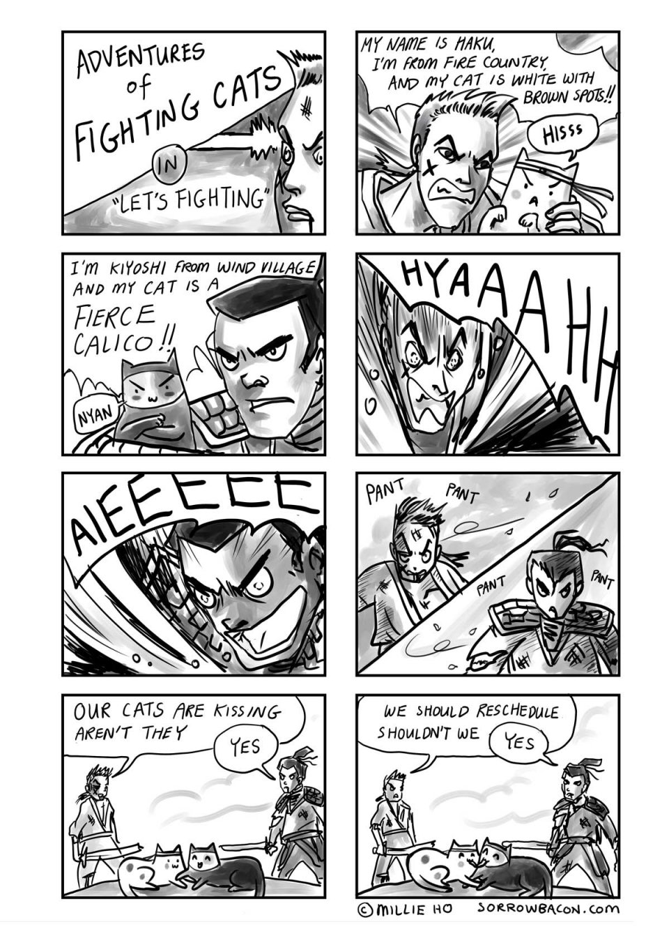 SORROWBACON Let's Fighting Cats Comic