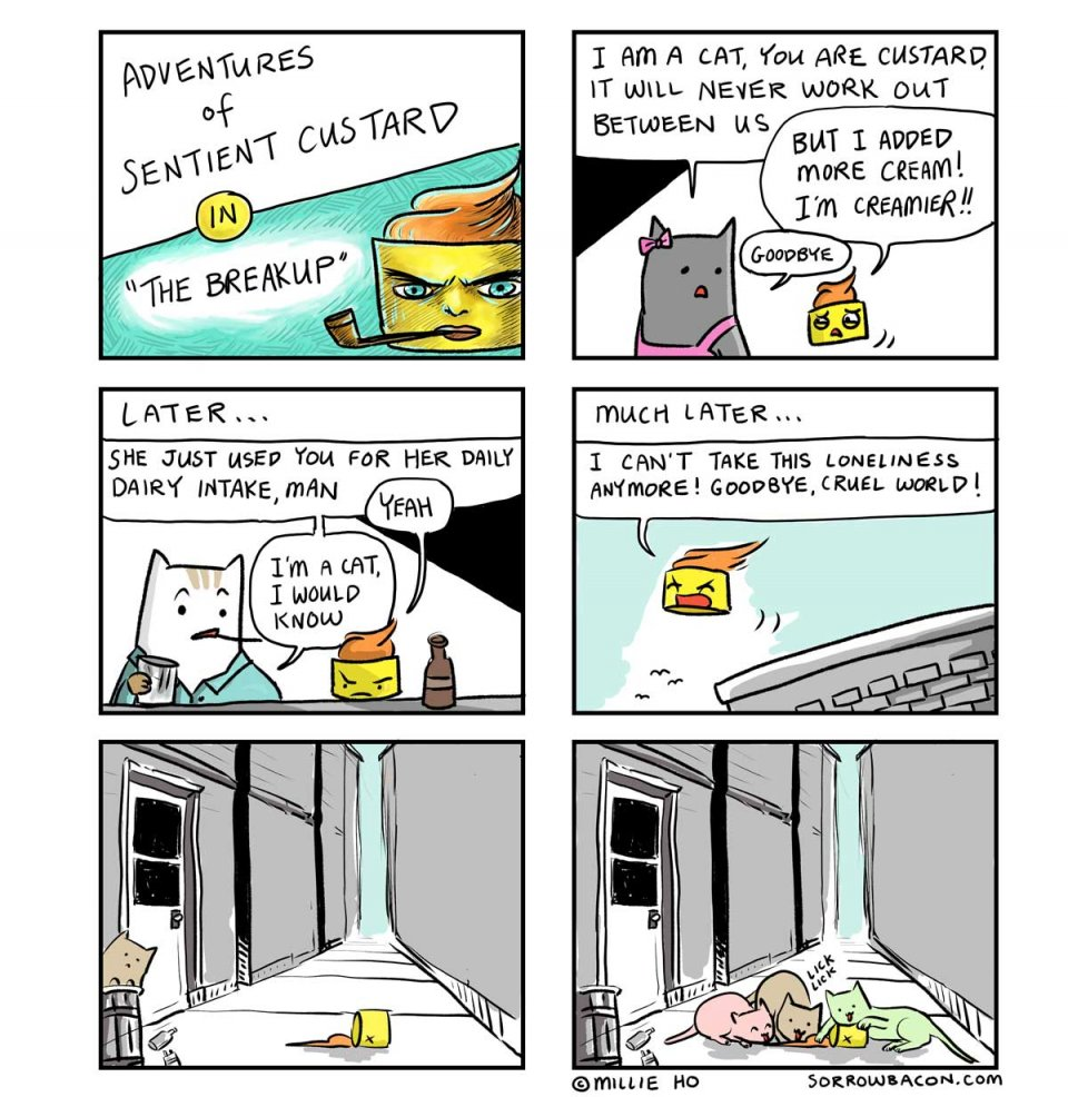 SORROWBACON The Breakup Cat Comic