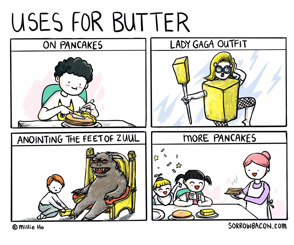 Uses for Butter sorrowbacon comic