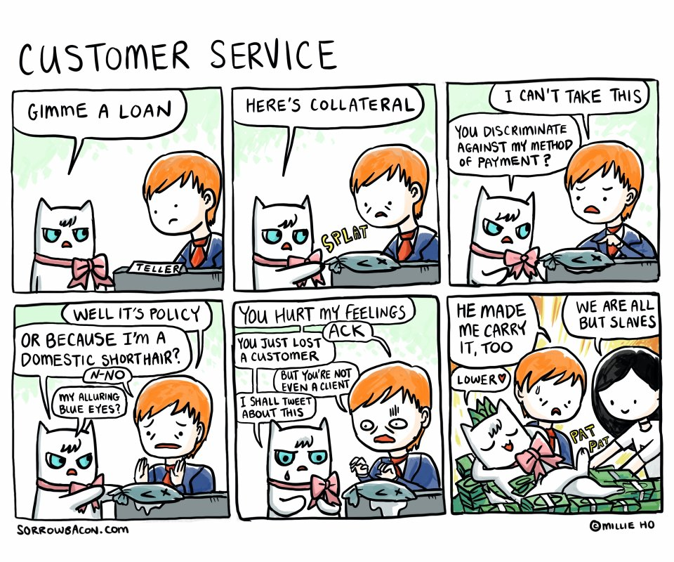 Customer Service sorrowbacon comic