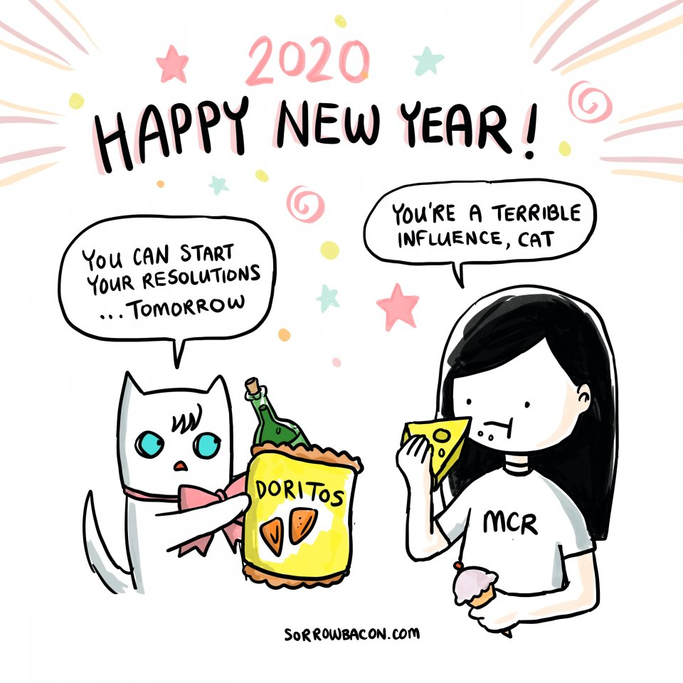 sorrowbacon comic Happy New Year 2020