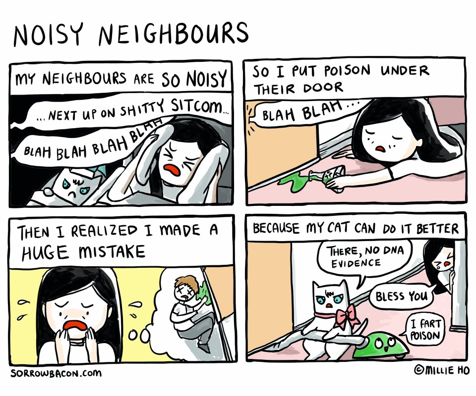 Noisy Neighbours sorrowbacon comic