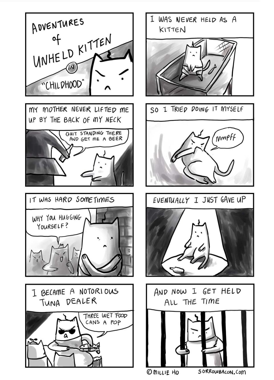 Sorrowbacon Unheld Kitten Millie Ho Cat Comic