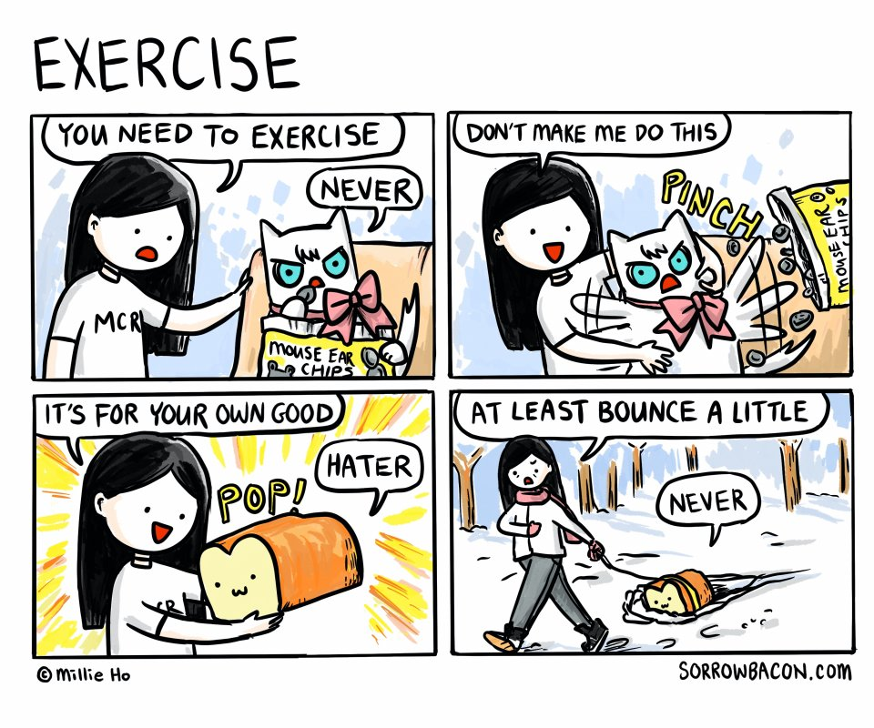 Exercise sorrowbacon comic