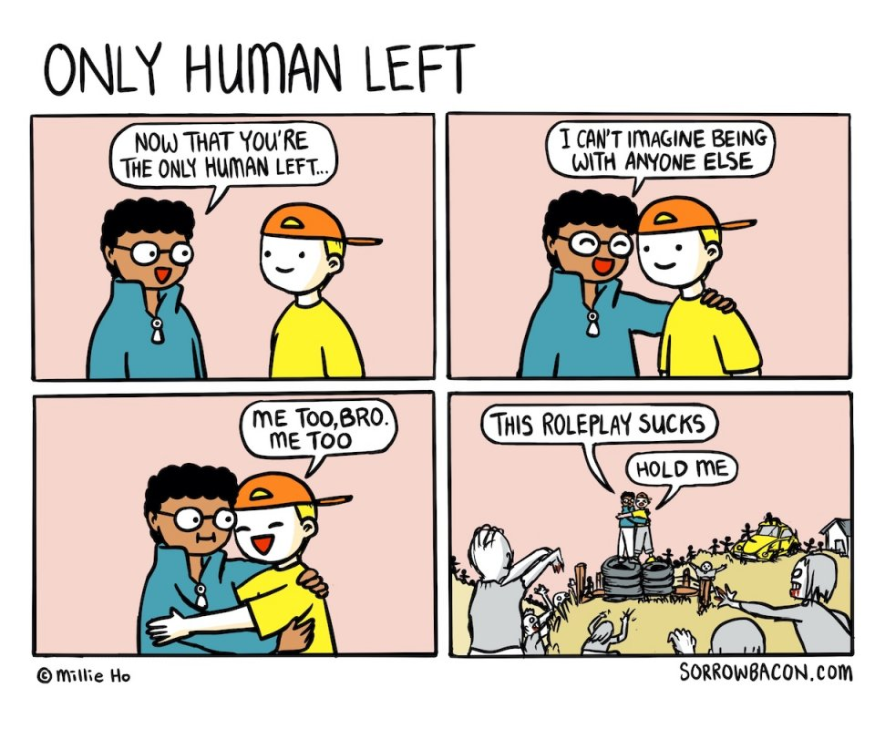 Only Human Left sorrowbacon comic