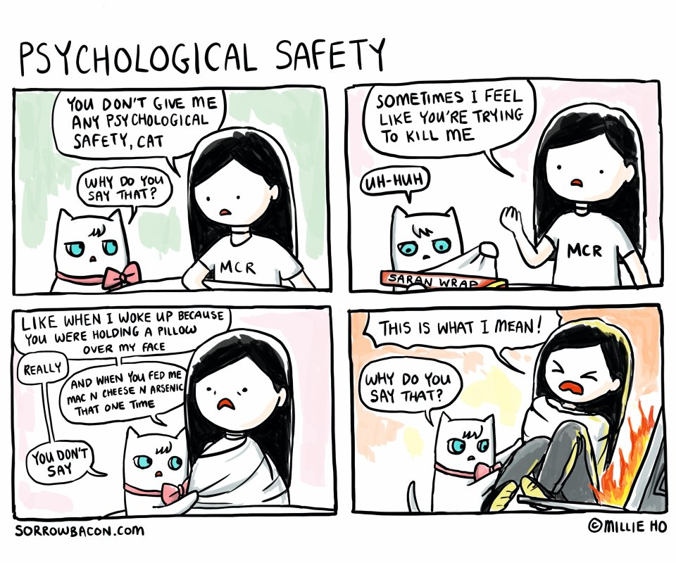 Psychological Safety sorrowbacon comic